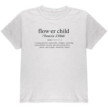Flower Child Definition Youth T Shirt