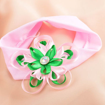 Handmade designer pink headband stylish accessory for kids cute headband