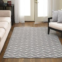 Better Homes and Gardens Rowan Print Rug, Gray - Walmart.com