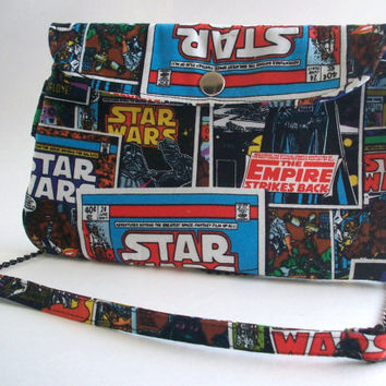 Star Wars Clutch Purse with Chain Strap / Comic Bag