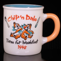Disney Chip 'n Dale Three For Breakfast 1948 Color Mug