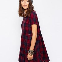 Only Checked Smock Dress at asos.com