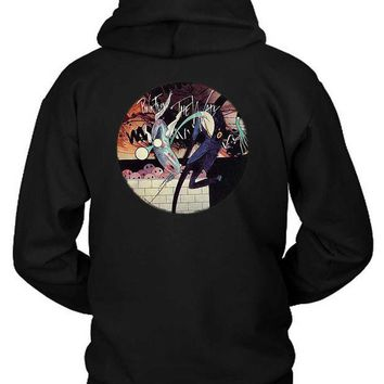 CREYH9S Pink Floyd The Wall Rounded Illustration Hoodie Two Sided