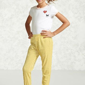 Girls Velvet Pants (Kids)