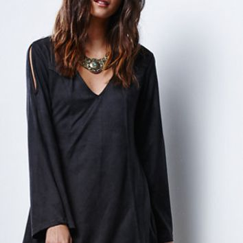 Mink Pink Truth Potion Faux Suede Dress