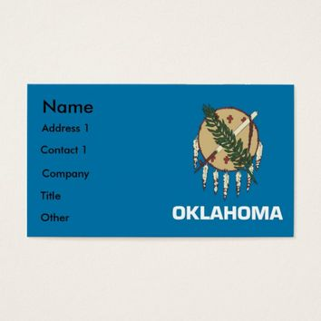 Business Card with Flag of Oklahoma U.S.A.