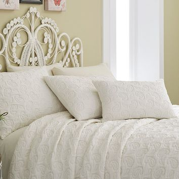 Studio D Melody Paisley-Quilted Jacquard Coverlet Mini Set | Dillards