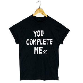 5 SECONDS OF SUMMER T SHIRT YOU COMPLETE ME MESS 5SOS LUKE HEMMINGS NEW GIFT