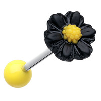 Adorable Daisy Acrylic Barbell Tongue Ring