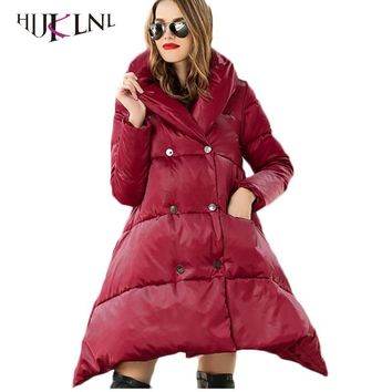HIJKLNL Thick Female Hooded Down Parkas 2017 Hooded Female 90% White Duck Down Coats Women Down Jackets Winter Overcoats PL175
