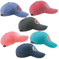 Pigment Dyed Ball Caps Monogrammed