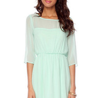 Kerry Sweetheart Dress in Mint :: tobi