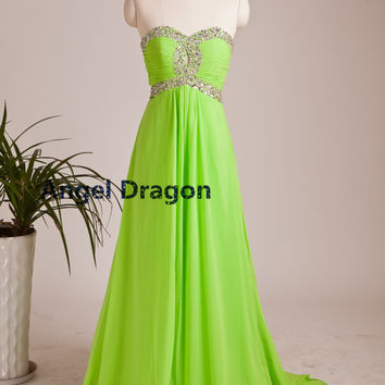 Angel Dragon Quinceanera Chiffon Prom Dresses Party Evening Elegant