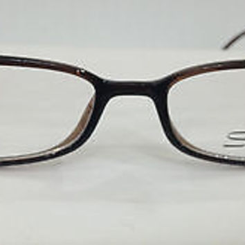 NEW AUTHENTIC SILHOUETTE SPX 1997 COL 6085 BROWN PLASTIC EYEGLASSES FRAME
