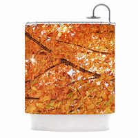 "Sylvia Coomes ""Fall Folioge"" Orange Yellow Shower Curtain"
