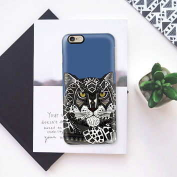 snow leopard blue iPhone 6s case by Sharon Turner | Casetify