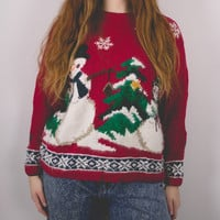 Vintage Snowman Ugly Christmas Sweater