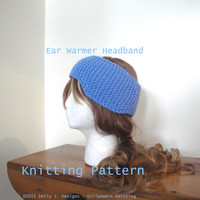 Ear Warmer Headband with Ear Flaps, Knitting Pattern, Easy Knit, Child Teen Adult, Worsted Chunky Yarn