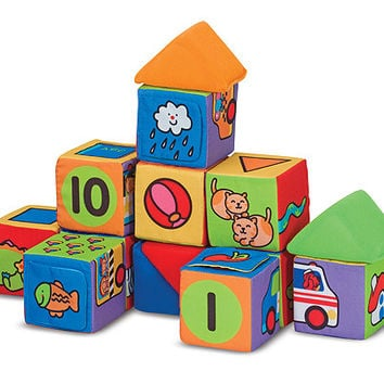 Melissa & Doug Match & Build Soft Blocks