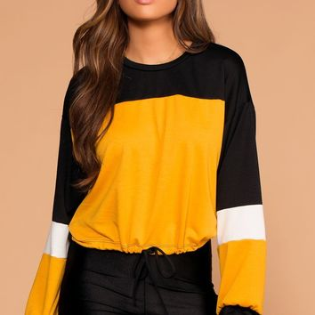 Good Sport Colorblock Drawstring Sweatshirt