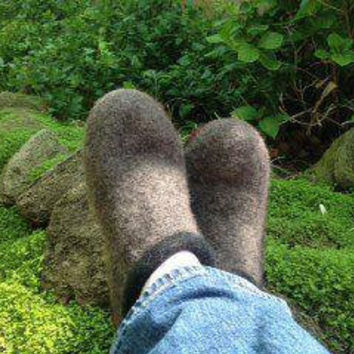 Men's Felted Wool Clogs/Slippers for Father's Day Size 8-9