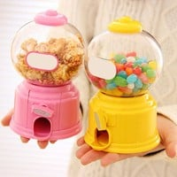 Creative Hot New Cute Sweets Mini Candy Machine Bubble Gumball Dispenser Coin Bank Kids Toy Chrismas Gift