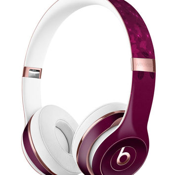 Faded Falling Leaves Of Burgundy Full-Body Skin Kit for the Beats by Dre Solo 3 Wireless Headphones