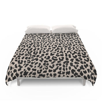 Society6 Tan Leopard Duvet Cover