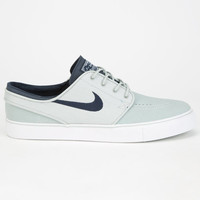 Nike Sb Zoom Stefan Janoski Leather Mens Shoes Grey  In Sizes