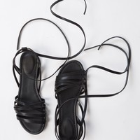 Leatherette Strappy Sandals