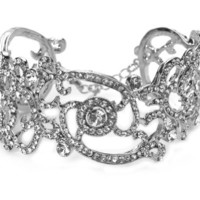 USABride Vintage Bracelet with Rhinestone & Crystal Scroll Design 652 - Like Love Buy