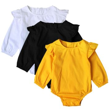 Baby Girl Romper Long Sleeved Bodysuits