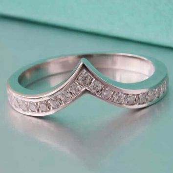 Surprise Semi Mount Quality Synthetic Diamonds Ring Marriage Band Ring Solid Sterling Silver Fine Jewelry