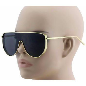 421b169ad8276 XL Vintage Retro Metal Flat Top Aviator Round Oversized Mens Womens  Sunglasses
