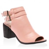 Nellie Pink Peeptoe Cut Out Boots