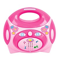 Pretend Play Toys for Girls Educational Simulation Pink Electric Radio Toys for Children Preschool Educational Kid Toys