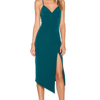 Shona Joy The Pass Cocktail Midi Dress in Peacock