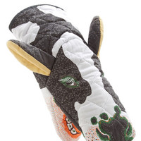 ModCloth Quirky I Like the Way You Moo Decorative Oven Mitt