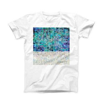 The Tiled Paint ink-Fuzed Front Spot Graphic Unisex Soft-Fitted Tee Shirt