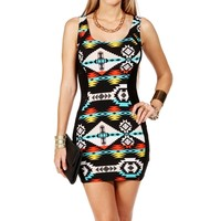 BlackOrange Aztec Print Tank Dress
