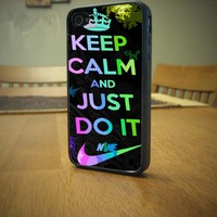 Keep calm and Just do it nike logo For Apple Phone, iPhone 4/4S Case, iPhone 5 case, Cover Plastic