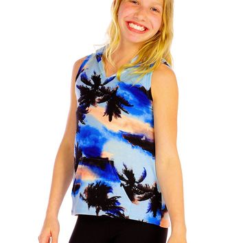 Vintage Havana Palm Tree Sleeveless Hoody