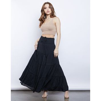 Vanessa Tiered Maxi Skirt