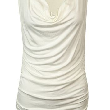 Nine West Women's Drape Neck Blouse