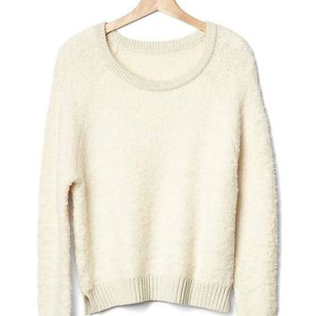 Slouchy boucle sweater | Gap