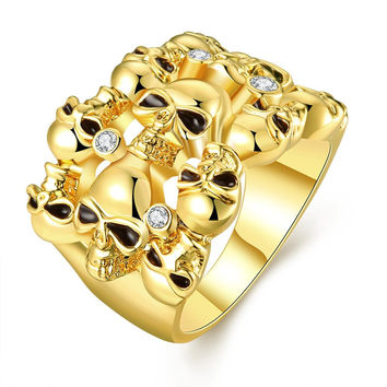 Gold Plated Multi Floral Orchid Ring