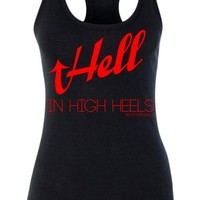 Women's Hell In High Heels Tank Top - Black