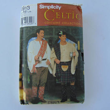 Simplicity 8913 Mens Celtic Costume Collection Sewing Pattern Size BB L-XL UNCUT