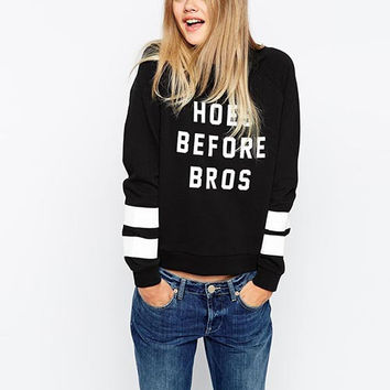 Black Graphic Printed Pullover