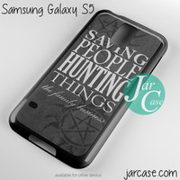 supernatural quote Phone case for samsung galaxy S3/S4/S5